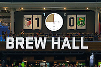 St. Paul, MN - Tuesday June 18, 2019: Score first half during a 2019 CONCACAF Gold Cup group D match between the United States and Guyana on June 18, 2019 at Allianz Field in Saint Paul, Minnesota.