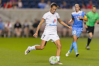 Chicago, IL - Saturday July 30, 2016: Mandy Laddish during a regular season National Women's Soccer League (NWSL) match between the Chicago Red Stars and FC Kansas City at Toyota Park.