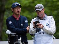 23.05.2015. Wentworth, England. BMW PGA Golf Championship. Round 3.  Byeong Hun An [KOR] 5th tee, during the third round of the 2015 BMW PGA Championship from The West Course Wentworth Golf Club