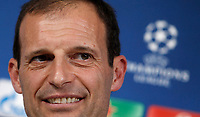 Juventus coach Massimiliano Allegri attends a press conference ahead of the Champions League round of 16 second leg soccer match against Porto, in Turin, 13 March 2017.<br /> UPDATE IMAGES PRESS/Isabella Bonotto