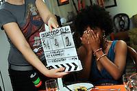 Casa COOP.Dietro le quinte.Backstage.2°serie.Lavoratori dello spettacolo durante la riprese di Casa Coop.Workers in the entertainment during the filming of House Coop.Ester Elisha.