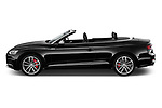 Car driver side profile view of a 2018 Audi S5 Base 2 Door Convertible