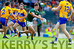 David Clifford Kerry in action against Gordon Kelly Clare during the Munster GAA Football Senior Championship semi-final match between Kerry and Clare at Fitzgerald Stadium in Killarney on Sunday.