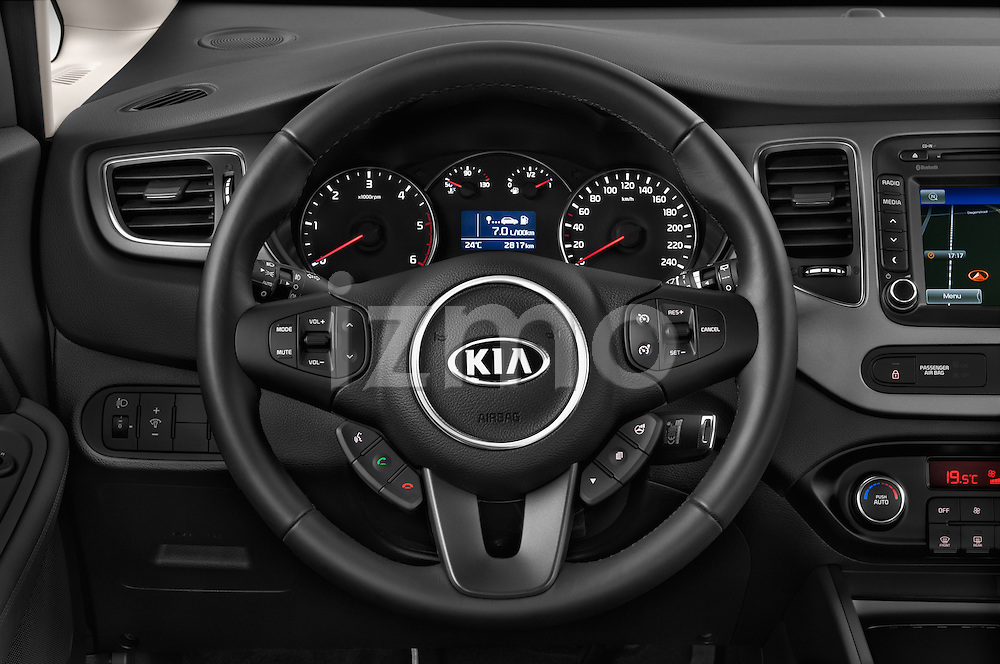 Car pictures of steering wheel view of a 2014 KIA CARENS Lounge 5 Door Mini MPV 2WD Steering Wheel