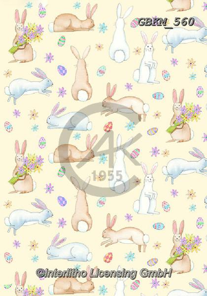 Kate, GIFT WRAPS, GESCHENKPAPIER, PAPEL DE REGALO, paintings+++++rabbits.,GBKM560,#gp#, EVERYDAY