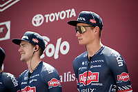 Mathieu Van der Poel (NED/Alpecin-Fenix) at sign-on<br /> <br /> 14th Strade Bianche 2020<br /> Siena > Siena: 184km (ITALY)<br /> <br /> delayed 2020 (summer!) edition because of the Covid19 pandemic > 1st post-Covid19 World Tour race after all races worldwide were cancelled in march 2020 by the UCI