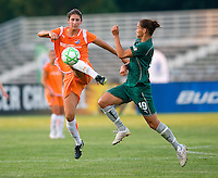 Sky Blue FC midfielder Yael Averbuch (10) and Saint Louis Athletica defender Nikki Cross (19) during a WPS match at Anheuser Busch Soccer Park, in St. Louis, MO, July 22 2009. Athletica won the match 1-0.
