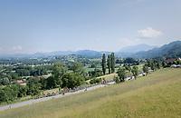 scenic peloton<br /> <br /> stage 7: Aoste > Alpe d'Huez (168km)<br /> 69th Critérium du Dauphiné 2017