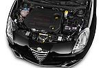 Car stock 2015 Alfa Romeo Giulietta Distictive 5 Door SUV engine high angle detail view