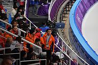 OLYMPIC GAMES: PYEONGCHANG: 19-02-2018, Gangneung Oval, Long Track, Patrick Roest (NED), Kjeld Nuis (NED), Sven Kramer (NED), ©photo Martin de Jong