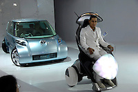 Two displayed Toyota concept cars at the 2006 International Automotive Exhibition in Beijing China..25 Nov 2006