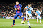 Paulinho Maciel of FC Barcelona (L) in action against Celso Borges Mora of RC Deportivo La Coruna (R) during the La Liga 2017-18 match between FC Barcelona and Deportivo La Coruna at Camp Nou Stadium on 17 December 2017 in Barcelona, Spain. Photo by Vicens Gimenez / Power Sport Images
