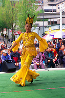 Female Asian Dancer, New Westminster, British Columbia, Canada