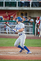 Nick Dean (22) of the Ogden Raptors at bat against the Orem Owlz in Pioneer League action at Home of the Owlz on June 20, 2015 in Provo, Utah.The Raptors defeated the Owlz 9-6. (Stephen Smith/Four Seam Images)