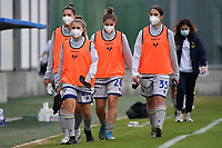 Hellas Verona players wear mask during the women Serie A football match between US Sassuolo and Hellas Verona at Enzo Ricci stadium in Sassuolo (Italy), November 15th, 2020. Photo Andrea Staccioli / Insidefoto