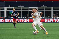 FOXBOROUGH, MA - MAY 22: Daniel Royer #77 of New York Red Bulls during a game between New York Red Bulls and New England Revolution at Gillette Stadium on May 22, 2021 in Foxborough, Massachusetts.