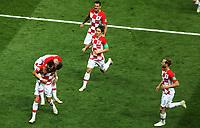 MOSCU - RUSIA, 15-07-2018: Ivan PERISIC (#4) jugador de Croacia celebra después de anotar el primer gol de su equipo a Francia durante partido por la final de la Copa Mundial de la FIFA Rusia 2018 jugado en el estadio Luzhnikí en Moscú, Rusia. / Ivan PERISIC (#4) player of Croatia celebrates after scoring the first goal of his team to France during match of the final for the FIFA World Cup Russia 2018 played at Luzhniki Stadium in Moscow, Russia. Photo: VizzorImage / Cristian Alvarez / Cont