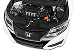 Car Stock 2015 Honda Civic Comfort 5 Door Hatchback Engine  high angle detail view