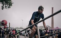 Damien Howson (AUS/ORICA-Scott) on the sign-on podium<br /> <br /> 104th Tour de France 2017<br /> Stage 12 - Pau › Peyragudes (214km)