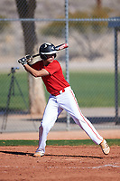 Joshua Lizarraga (44), from Moreno Valley, California, while playing for the Cardinals during the Under Armour Baseball Factory Recruiting Classic at Red Mountain Baseball Complex on December 29, 2017 in Mesa, Arizona. (Zachary Lucy/Four Seam Images)