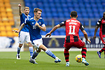 St Johnstone v St Mirren……29.08.20   McDiarmid Park  SPFL<br />Jason Kerr and Ilkay Durmus<br />Picture by Graeme Hart.<br />Copyright Perthshire Picture Agency<br />Tel: 01738 623350  Mobile: 07990 594431
