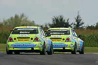 Round 7 of the 2005 British Touring Car Championship. #77. Richard Williams (GBR) & #78. Ian Curley (GBR). HPI Racing with Friends Reunited. Lexus IS200.