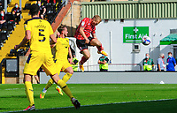 Lincoln City's Anthony Scully scores the opening goal<br /> <br /> Photographer Chris Vaughan/CameraSport<br /> <br /> The EFL Sky Bet League One - Saturday 12th September 2020 - Lincoln City v Oxford United - LNER Stadium - Lincoln<br /> <br /> World Copyright © 2020 CameraSport. All rights reserved. 43 Linden Ave. Countesthorpe. Leicester. England. LE8 5PG - Tel: +44 (0) 116 277 4147 - admin@camerasport.com - www.camerasport.com - Lincoln City v Oxford United