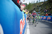 Johan Esteban Chaves (COL/Orica-GreenEDGE) biting his teeth to try and keep on to the Maglia Rosa... unfortunately for him Vincenzo Nibali (ITA/Astana) proved too powerful in the end.<br /> <br /> stage 20: Guillestre (FR) - Sant'Anna di Vinadio (IT) 134km<br /> 99th Giro d'Italia 2016
