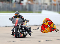 May 20, 2017; Topeka, KS, USA; NHRA top fuel nitro Harley Davidson rider Rickey House during qualifying for the Heartland Nationals at Heartland Park Topeka. Mandatory Credit: Mark J. Rebilas-USA TODAY Sports