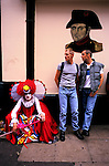 'GAYFEST MANCHESTER, UK', GAY REVELLERS UNDER A PICTURE OF NAPOLEAN - THIS PUB IS THE OLDEST ONE IN 'THE PINK VILLAGE', 1999