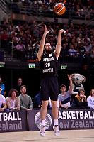 New Zealand Tall Blacks' Jordan Ngatai in action during the FIBA World Cup Basketball Qualifier - NZ Tall Blacks v Jordan at Horncastle Arena, Christchurch, New Zealand on Thursday 29 November  2018. <br /> Photo by Masanori Udagawa. <br /> www.photowellington.photoshelter.com