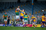 David Moran, Kerry, in action against Darren O Neill, Clare, during the Munster Football Championship game between Kerry and Clare at Fitzgerald Stadium, Killarney on Saturday.