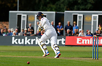 21st September 2021; Aigburth, Merseyside, England; County Championship Cricket, Lancashire versus Hampshire, Day 1; Tom Alsop of Hampshire steers a shot down the leg side