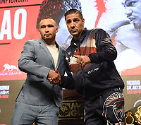LAS VEGAS - JULY 17: Sergey Lipinets and John Molina Jr. attend the final press conference for the PBC on Fox Sports Pay-Per-View at the MGM Grand on July 17, 2019 in Las Vegas, Nevada. (Photo by Frank Micelotta/Fox Sports/PictureGroup)