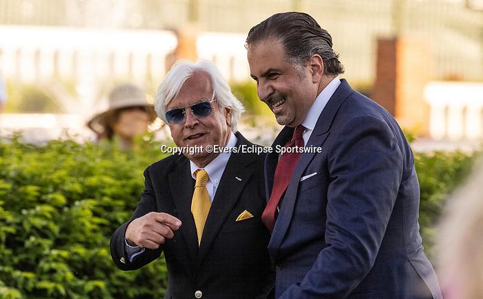 MAY 01, 2021:  Amr Zedan and Bob Baffert after Medina Spirit wins the Kentucky Derby at Churchill Downs in Louisville, Kentucky on May 1, 2021. EversEclipse Sportswire/CSM