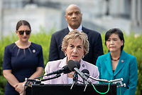 United States Representative Jan Schakowsky (Democrat of Illinois), speaks to the press about a letter sent to US Secretary of State, Antony Blinken to create a special envoy to combat Islamophobia at the US Capitol in Washington, DC on Wednesday, July 21, 2021.<br /> Credit: Amanda Andrade-Rhoades / CNP /MediaPunch