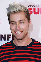 SANTA MONICA, CA, USA - OCTOBER 08: Lance Bass arrives at the Vevo CERTIFIED SuperFanFest held at Barkar Hangar on October 8, 2014 in Santa Monica, California, United States. (Photo by David Acosta/Celebrity Monitor)
