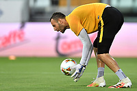 Samir Handanovic of FC Internazionale warms up prior to the Serie A football match between Parma and FC Internazionale at stadio Ennio Tardini in Parma ( Italy ), June 28th, 2020. Play resumes behind closed doors following the outbreak of the coronavirus disease. <br /> Photo Andrea Staccioli / Insidefoto