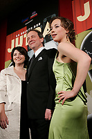 January 20 2005, Montreal (Quebec) CANADA<br /> Lyne Beauchamps, Culture Minister, Quebec (L)<br /> Michel Cote , Actor (M) and<br /> Karine Vanasse, actress (R) the 2005 Jutra Gala in Montreal.