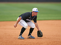 IMG Academy Ascenders Black third baseman Jack Thompson (17) during the IMG National Classic on March 29, 2021 at IMG Academy in Bradenton, Florida.  (Mike Janes/Four Seam Images)