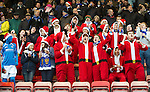 Dunfermline v St Johnstone..24.12.11   SPL .St Johnstone fans get into the christmas spirit.Picture by Graeme Hart..Copyright Perthshire Picture Agency.Tel: 01738 623350  Mobile: 07990 594431
