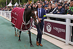 October 01, 2017, Chantilly, FRANCE - Happily with Ryan Moore up wins the Qatar Prix Jean-Luc Lagardere (Gr. I) at  Chantilly Race Course  [Copyright (c) Sandra Scherning/Eclipse Sportswire)