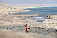 DJIBOUTI salt lake Lac Assal/ DSCHIBUTI, Salzsee Lac Assal
