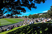 A general view of the embankment during day one of the International Test Cricket match between the New Zealand Black Caps and West Indies at the Basin Reserve in Wellington, New Zealand on Friday, 11 December 2020. Photo: Dave Lintott / lintottphoto.co.nz