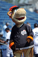 Staten Island Yankees mascot Red during game against the Auburn Doubledays at Richmond County Bank Ballpark at St.George on August 2, 2012 in Staten Island, NY.  Auburn defeated Staten Island 11-3.  Tomasso DeRosa/Four Seam Images