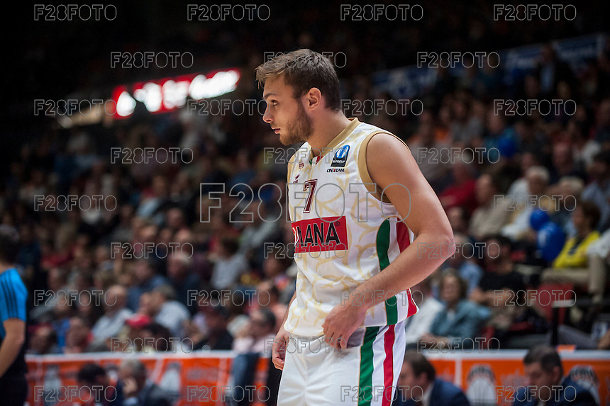 VALENCIA, SPAIN - NOVEMBER 3: Stefano Tonut during EUROCUP match between Valencia Basket Club and CAI Zaragozaat Fonteta Stadium on November 3, 2015 in Valencia, Spain