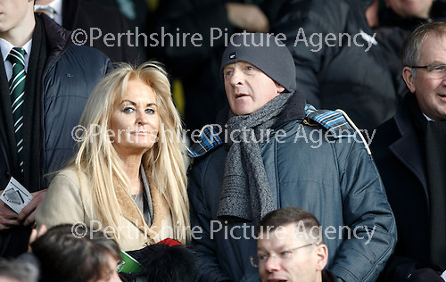 Hibs v St Johnstone...30.01.16   Utilita Scottish League Cup Semi-Final, Tynecastle..<br /> Scotland boss Gordon Strachan in the crowd<br /> Picture by Graeme Hart.<br /> Copyright Perthshire Picture Agency<br /> Tel: 01738 623350  Mobile: 07990 594431