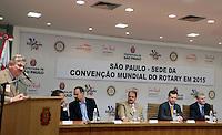 SAO PAULO,SP, 10 DE FEVEREIRO DE 2012 - CONVENCAO MUNDIAL DO ROTARY 2015 EM SP - José Alfredo Petroni, atual integrante do Colegiado de Diretores do Rotary International  durante anuncio da cidade de Sao Paulo como Sede da Convencao Mundial do Rotary em 2015 nesta sexta-feira (10), na sede da Prefeitura, zona central da cidade.  FOTO RICARDO LOU - NEWS FREE.