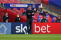 Exeter City manager Matt Taylor during the Sky Bet League 2 PLAY-OFF Final match between Exeter City and Northampton Town at Wembley Stadium, London, England on 29 June 2020. Photo by Andy Rowland.