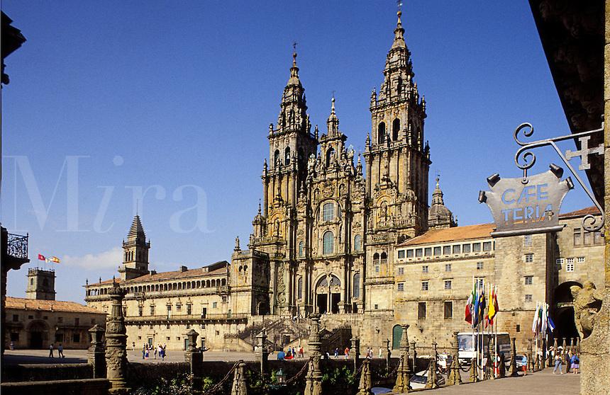 Spain. Galicia.  Santiago de Compostela, cathedral,